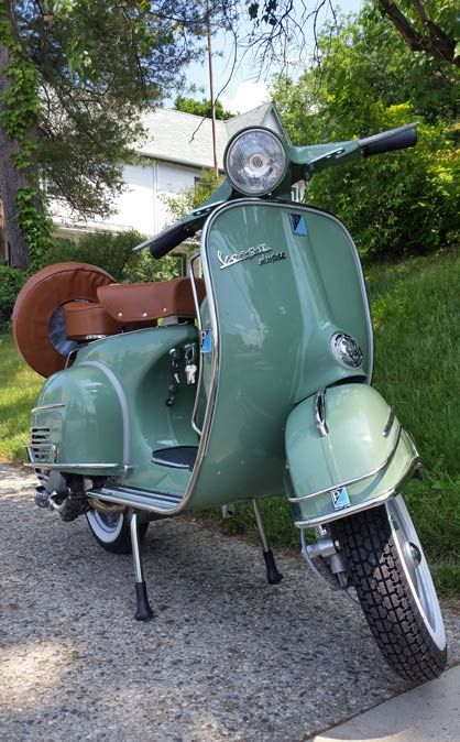 Sage Green 1966 Vespa Super Vbc For Sale Your Vespa Vespa Scooters Vespa Super Vespa Scooters For Sale