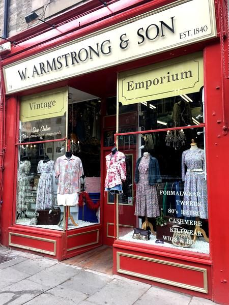 Our Three Branches Of Armstrong S Vintage Clothing Are Located In The Grassmarket Teviot Place And Clerk Street In Edinburgh Vintage Outfits Vintage Shopping