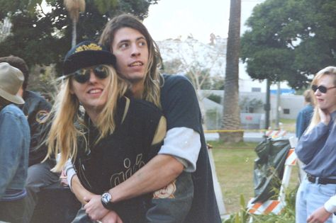 Dave Grohl (Nirvana) and Suzi Gardner (L7)  -  Seattle Grunge
