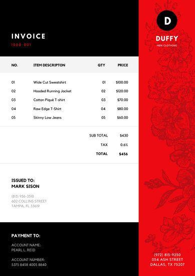 Customize 178 Invoice Templates Online Canva Invoice Template Templates Printable Invoice