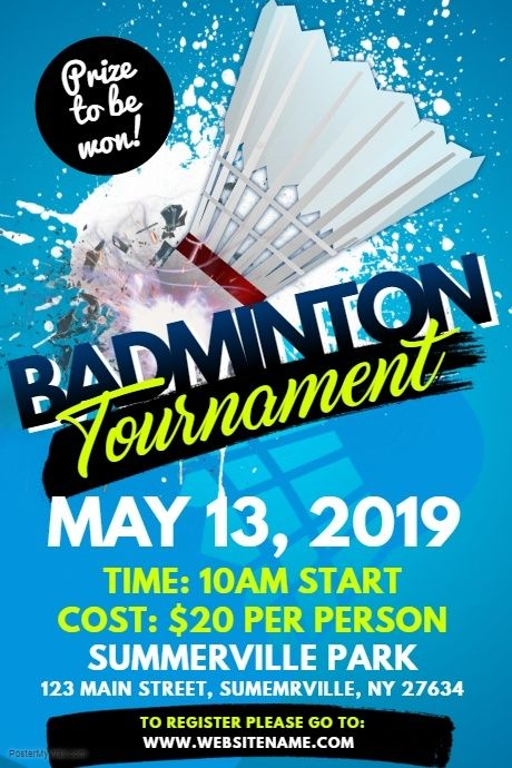 Badminton Poster Badminton Badminton Tournament Badminton Pictures