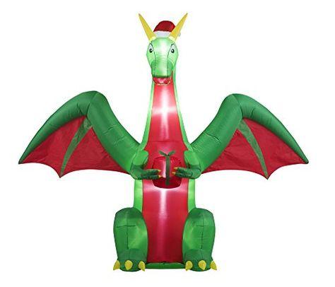 Inflatable Christmas Dragon.8ft Inflatable Christmas Dragon Indoor Outdoor Christmas