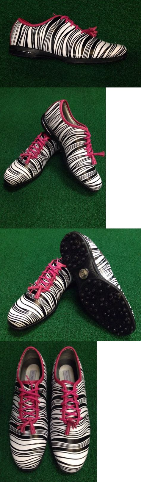 Golf Shoes 181147: Footjoy Tailored Collection Womens Golf Shoes #91652 Zebra New (Mfg Closeout) -> BUY IT NOW ONLY: $79 on eBay!