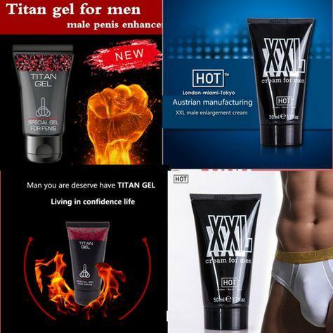 2pcs lot titan gel male penis enlargement xxl penis enhancement