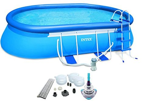 Intex 20 X 12 X 48 Quot Oval Frame Pool Set W 1500 Gph Filter Pump Amp V Trap Vac Intex Rectangular Pool Cheap Above Ground Pool