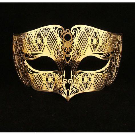 KING'S Mask - Gold Male Masquerade Mask Laser Cut Metal Mask by Yacanna on Etsy
