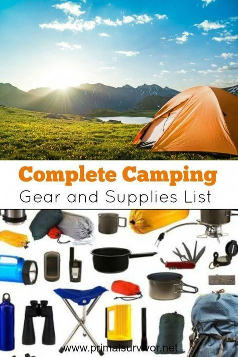 quality design 281ed 81b73 Complete Camping Gear and Supplies List. Ready to go camping ...