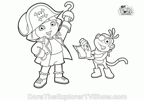 Dora Coloring Pages Halloween
