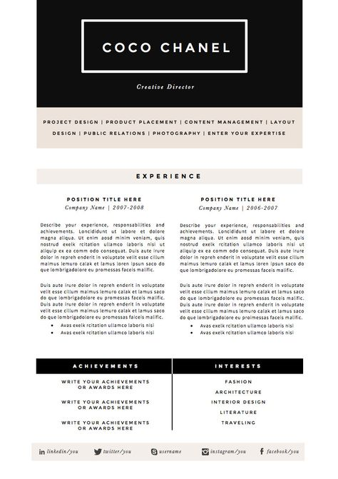 Medium Length Professional CV Resume Template In need of RESUME - cv versus resume