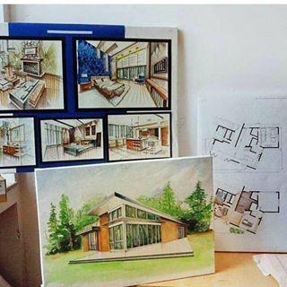 Prosmotrdan Interyer Plan Kompozisiya Sifariwler Gebul Olunur Design Sketch Interiorsketch Interior Adra Baku