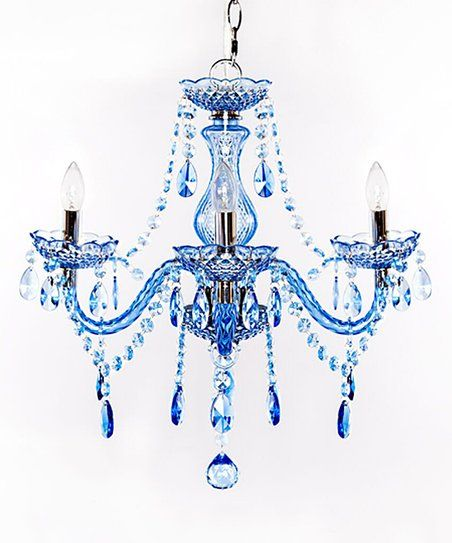 Light Up The Room In Glamorous Style With The Candle Inspired Bulbs Of This Chandelier That Features Three Arms Draped In Dazzling Crystals Blue Chandelier Plug In Chandelier Chandelier
