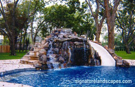 Swimming Pools With Waterfalls And Slide used inground swimming pool slide | swimming pool covers formal