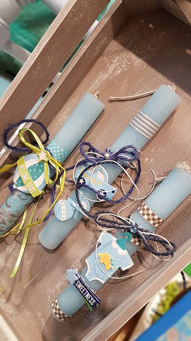 9b70591ec49 Ιδέες για Πασχαλινές λαμπάδες με τα υλικά από το www.craftsandpaper ...
