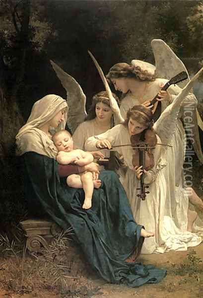 Song of the Angel William Adolphe reproduction Portrait Oil Painting on Canvas