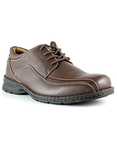 Dockers Men Leather Lace-Up Oxford Trustee Casual Dress Shoes Damaged As-Is