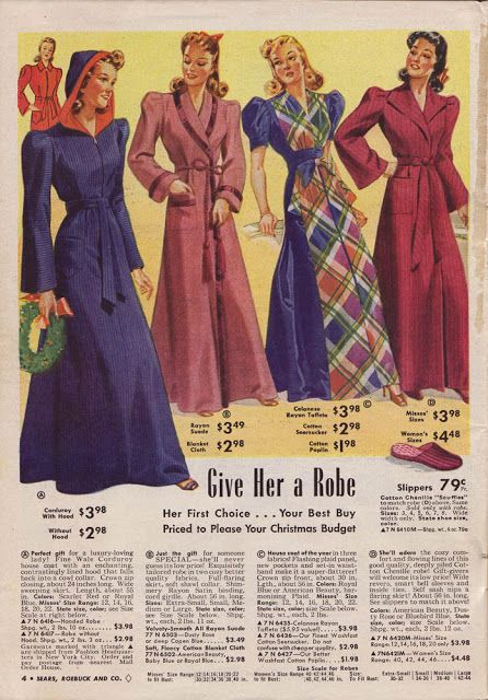 Lounge Wear Robes And Housecoats Lounge Wear Vintage Outfits