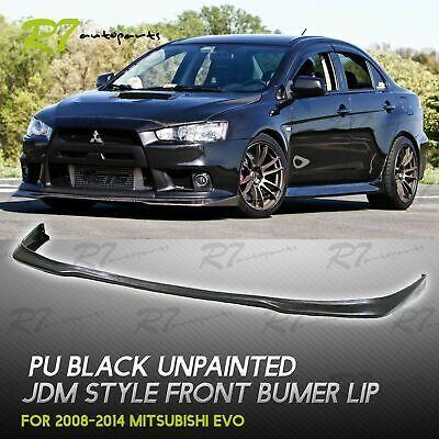 Sponsored Ebay For 08 15 Evolution Evo X Front Bumper Lip Chin Splitter Valance Trim Body Kit Body Kit Evo X Evo