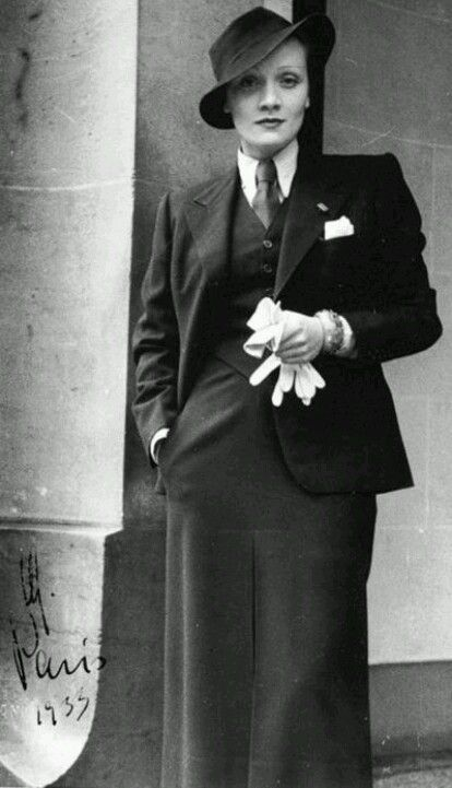 Marlene in Paris, 1935. She loved Paris and found in the city a place to call…