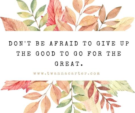 Don't be afraid to give up the good to go for the great. Happy Monday everyone! Hope you had a wonderful weekend! 🙂 It's time to make some memories! 🌟💜 #happymonday #motivationmonday #mindsettips #positivity #positivevibes #mindset #positivegoals