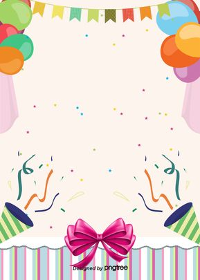 Cartoon Happy Birthday Celebration H5 Background In 2020 Happy Birthday Posters Happy Birthday Wallpaper Birthday Background Design
