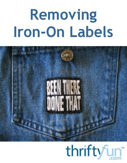 Removing Iron On Labels And Patches Iron On Labels Clothing Patches Iron On Patches