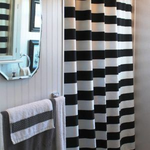 Red Black And White Chevron Shower Curtain Black Shower Curtains