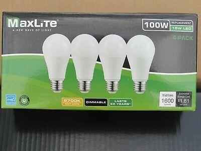 96 Pack New 100 Watt Equivalent A19 Led Light Bulbs Dimmable Soft White 2700k 767627983757 Ebay In 2020 Led Light Bulbs Light Bulbs Bulb