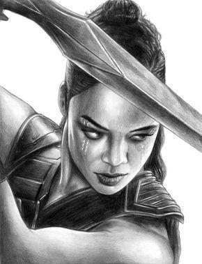 Valkyrie Thor Ragnarok By Soulstryder210 Marvel Drawings