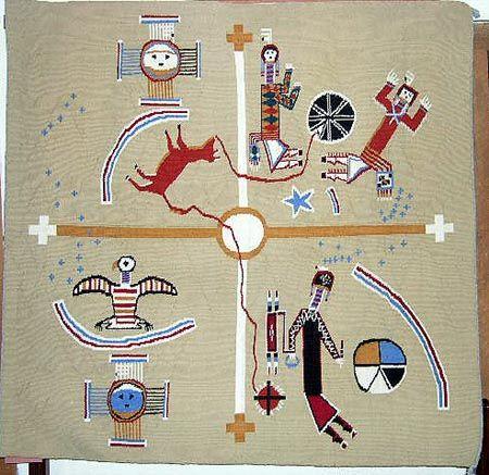 Sandpainting rug design