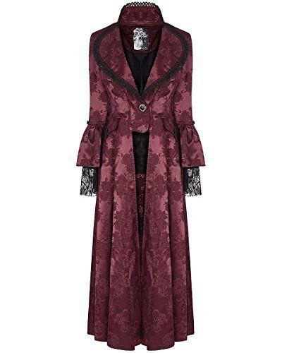 Donne Steampunk Cappotti Moda Maniche Lunghe Giacche retr/ò Medievale Gotico Vittoriana Stile Cappotto Costume