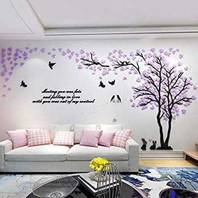 Amazon Com Unitendo Acrylic 3d Wall Stickers Wall Decal Easy To