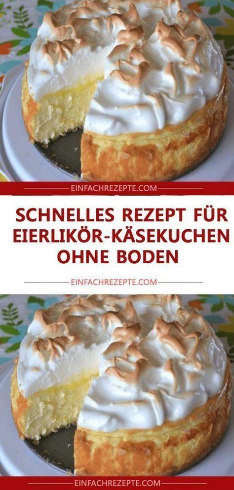 Schnelles Rezept für Eierlikör-Käsekuchen ohne Boden 😍 😍 😍