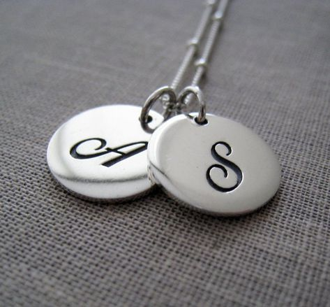 mothers day gift, Classic initial necklace, personalized gift for mom, couple jewelry, his and hers,