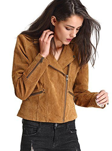 New Ladies Womens Real Leather Yellow Slim Fit Soft Zip Biker Style Jacket