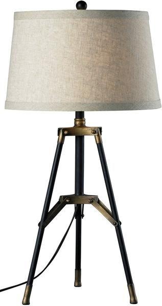 0 022744 1 Light 3 Way Table Lamp Restoration Black Aged Gold Tripod Table Lamp Gold Table Lamp Led Table Lamp