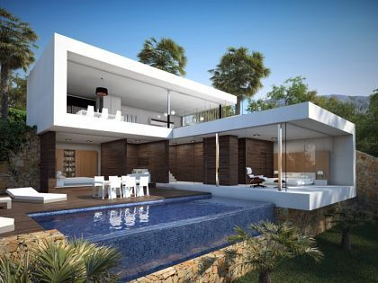 moderne woning met veel glas - Google zoeken Buitenhuis