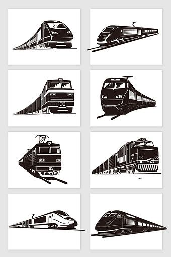 Drawing Black And White Train High Speed Rail Vector Png Images Ai Free Download Pikbest High Speed Rail Train Drawing Black And White