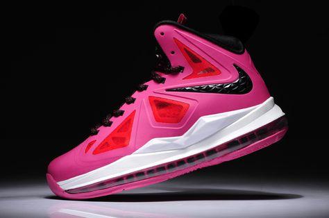 uk availability cb3ea 2c780 Womens Lebron shoes 2013 Nike LeBron X (10) GS Fireberry