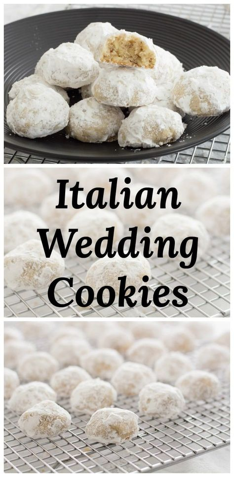 Italian Wedding Cookies are delicious little, powdered sugar coated, butter cookie bites with almonds. #recipe #cookie #Italian #Butterball #almond via @peartreechefs