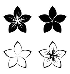 Frangipani Silhouette Vector In 2020 Hawaiian Tattoo Plumeria Flower Tattoos Hawaiian Flower Tattoos