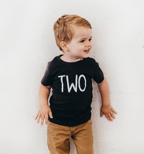 Excited To Share This Item From My Etsy Shop Toddler Boys Second Birthday Black Tshirt