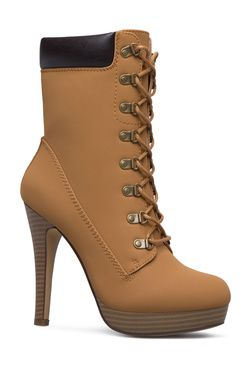 You Need This Heeled Construction Boot In Your Life Tuck In A Pair Of Ripped Skinnies And Head To Happy Hour With The Girls Boots Shoe Dazzle Women Shoes
