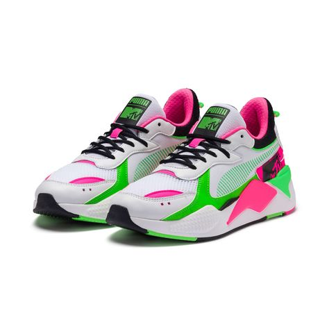 PUMA x Mtv Rs-x Tracks Bold Trainers in White/Black/802 C size 10.5