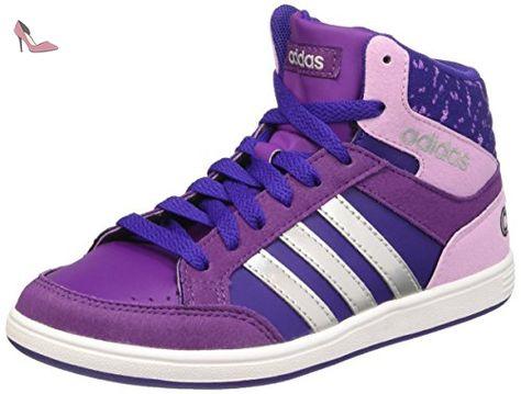 online retailer 917ba 28ae7 adidas Hoops Mid K, Chaussures pour le Basketball Mixte Bébé, Violet   Argenté (Violet Collégial  Argent Mat  Violet Tribal), 30 EU - Chaussures  adidas ...