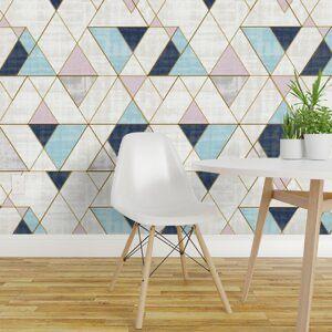 Debbra Removable Peel And Stick Wallpaper Panel Geometric Removable Wallpaper Geometric Wallpaper Removable Wallpaper
