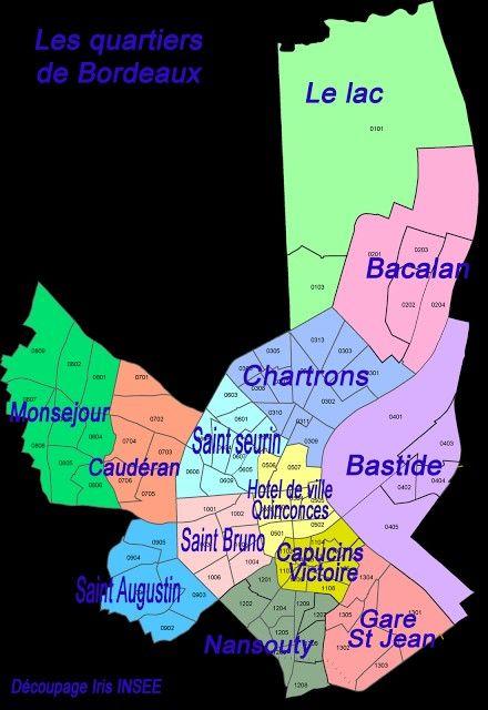 Carte Bordeaux Par Quartier.Carte Bordeaux Quartier Bordeaux Ma Ville Map Et Bordeaux
