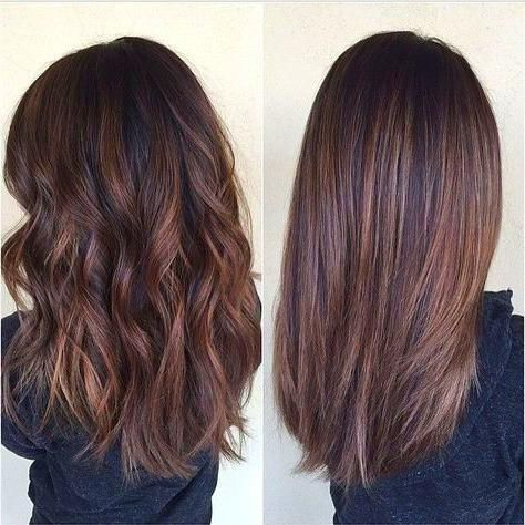 Medium Length Haircut In 2020 Medium Brown Hair Color Hair Styles Brunette Hair Color