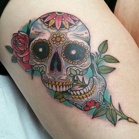 40 Tatuagens De Caveira Mexicana Tatuajes De Calaveras Mexicanas