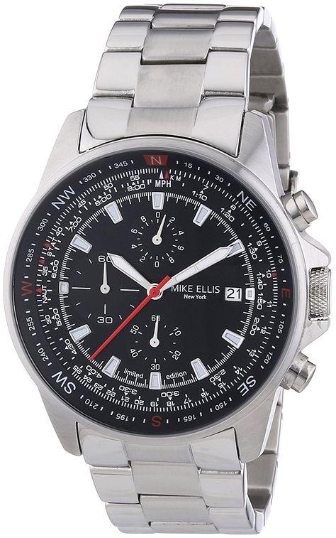 Mike Ellis New York Men's Watch Chronograph XL Quartz Stainless Steel