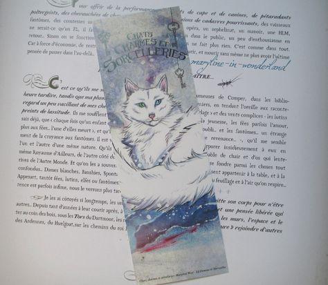 Marque Page Chat Des Neiges Chats Charmes Et Sorcelleries